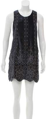 Haute Hippie Velvet Embellished Dress w/ Tags