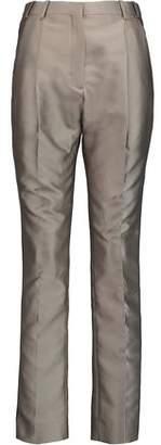 Carven Mikado Pleated Satin-Twill Pants