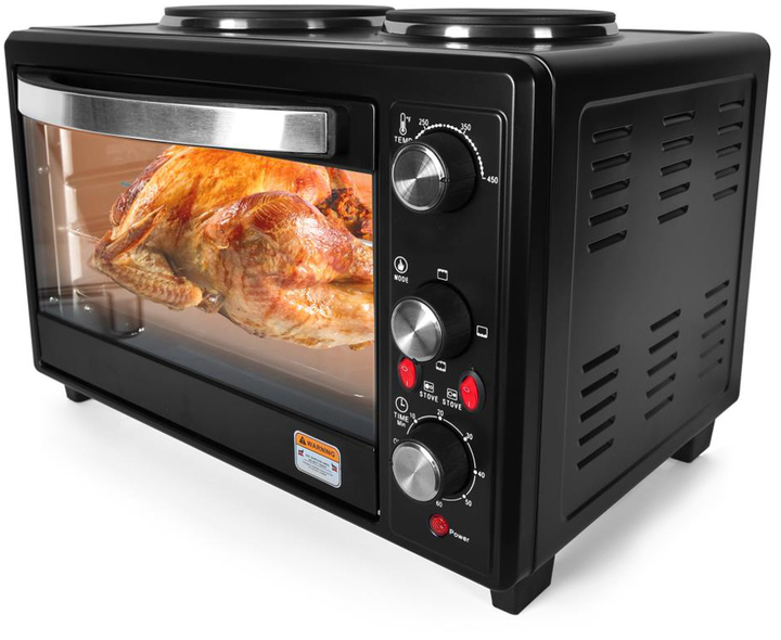 Countertop Oven / Rotisserie Cooker with Dual Hot Plates