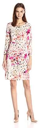 Calvin Klein Women's 3/4 Sleeve Dress with U Hardware