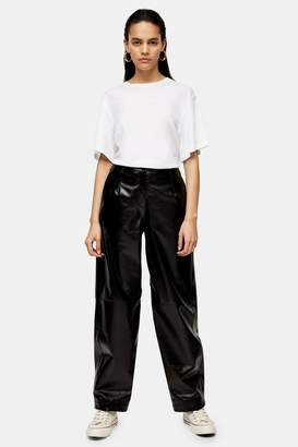 lovely luster skilful manufacture real quality Leather Trousers Topshop - ShopStyle UK