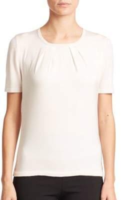 Carolina HerreraDay Collection Pintuck Cashmere/Silk Top