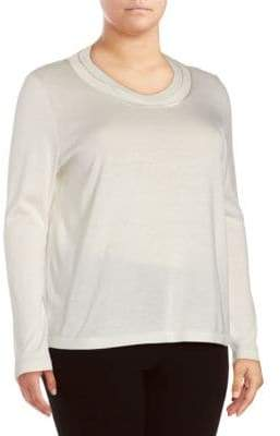 Lafayette 148 New York Double Scoopneck Sweater