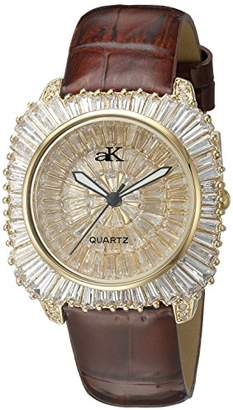 Adee Kaye Women's AK9262-LG Liberty COLLECTIN Analog Display Analog Quartz Brown Watch