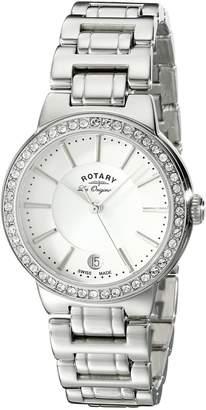 Rotary Women's lb90081/02l Analog Display Swiss Quartz Silver Watch