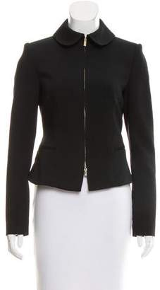 Blumarine Structured Zip-Up Jacket