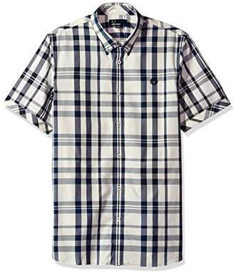 Fred Perry Blue Two-Colour Check Cotton Shirt