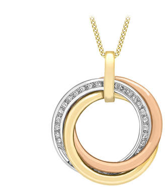9ct Three Colour Gold Three Circle Pendant