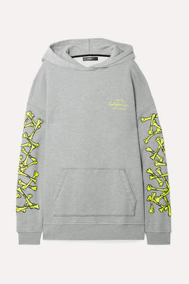 Amiri Oversized Printed Cotton-jersey Hoodie - Gray