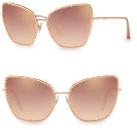 Dolce & Gabbana 61MM Scalloped Cat Eye Sunglasses
