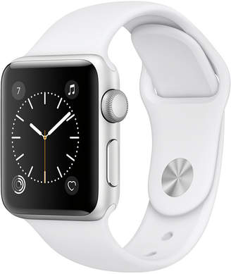 Apple Watch Series 2 38mm Silver-Tone Aluminum Case with White Sport Band $369 thestylecure.com