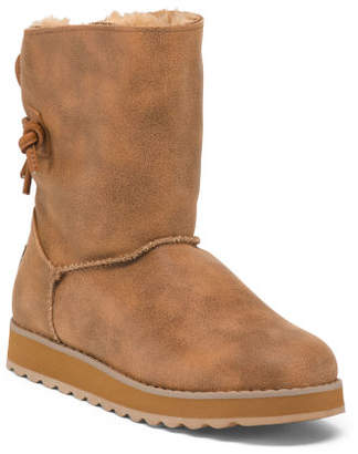 Back Tie Mid Shaft Boots