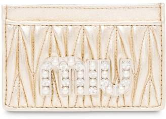 Miu Miu matelassé card holder