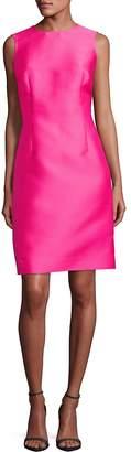 Oscar de la Renta Women's Sleeveless Silk-Blend Shift Dress