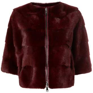 P.A.R.O.S.H. panelled fur jacket
