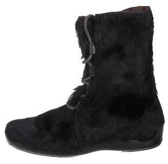 Tod's Ponyhair Ankle Boots