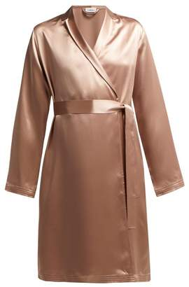 La Perla Silk Satin Robe - Womens - Light Pink