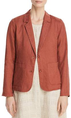 Eileen Fisher Petites Patch Pocket Linen Blazer