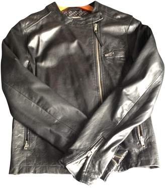 Hartford Black Leather Jacket for Women