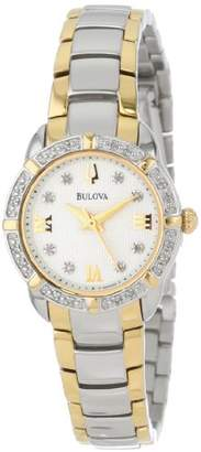 Bulova Women's 98R170 Diamond-Accented Stainless Steel Watch