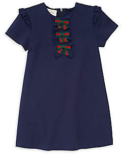 Gucci Baby Girl's Knit Bow-Front Dress