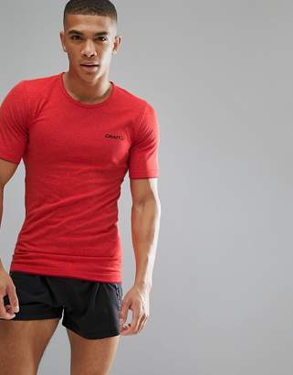 Craft Sportswear Active Comfort Running Knitted T-Shirt Top In Red 1903792-2566