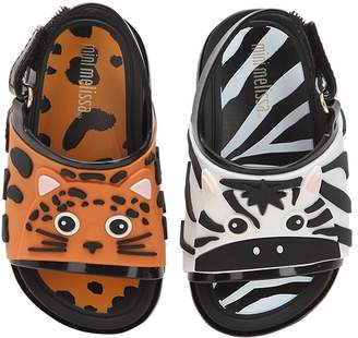 Mini Melissa Zebra & Tiger Rubber Sandals