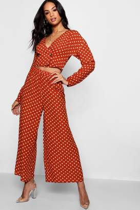 boohoo Extreme Wide Leg Woven Culotte Trouser