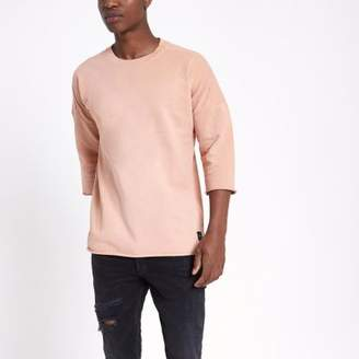 River Island Only and Sons pink oversized sweat T-shirt