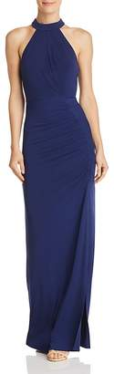 Laundry by Shelli Segal Sleeveless Ruched Gown