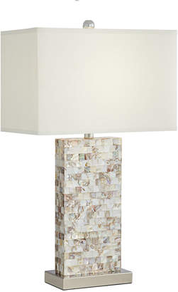 Mother of Pearl Pacific Coast Rectangle Block Table Lamp