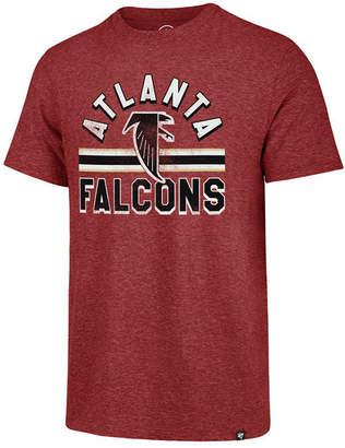 '47 Men Atlanta Falcons Team Stripe Match Tri-Blend T-Shirt