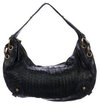 Isabella Fiore Whipstitch Leather Hobo