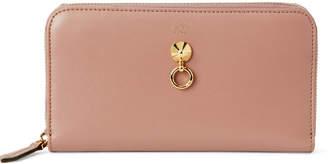 Fendi English Rose Dotcom Zip-Around Wallet