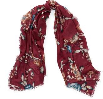 Ralph Lauren Floral Wool-Silk Scarf