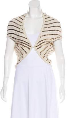 Alice + Olivia Embellished Short Sleeve Cardigan