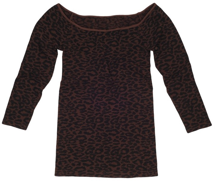 Tees by Tina Leopard 3/4 Sleeve