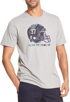 Izod Screen Tees Mens Crew Neck Short Sleeve Graphic T-Shirt-Big and Tall