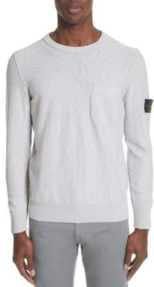Stone Island Garment Dyed Cotton Blend Sweatshirt