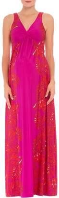 Olian Scarlet Sleeveless Maternity Maxi Dress