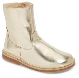 Mini Boden Faux Fur Glitter Star Boot
