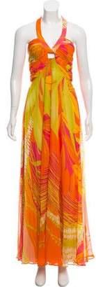 Max Mara Silk Sleeveless Maxi Dress