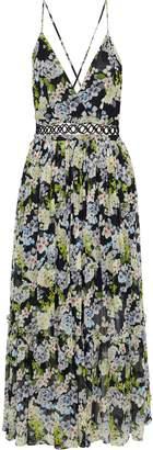 Marissa Webb Deanna Pleated Floral-print Silk-chiffon Midi Dress