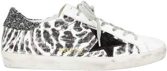 Golden Goose Superstar Leopard Print Low-Top Sneakers