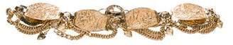 Neiman Marcus Chain-Link Floral Waist Belt