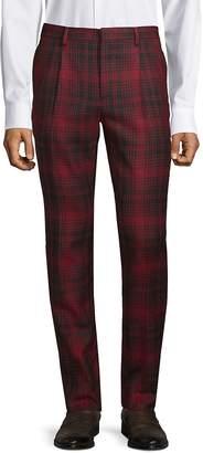 Valentino Men's Plaid Wool Pants