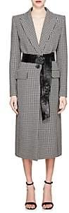 Givenchy Women's Houndstooth Wool One-Button Coat - Black
