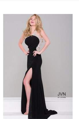 Jovani Pearl Embellished Gown