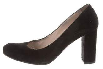 Barneys New York Barney's New York Suede Round-Toe Pumps