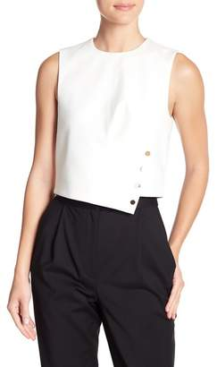 Tibi Agathe Snap Flap Sleeveless Blouse